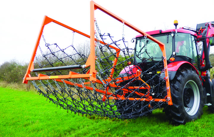 Folding mounted chain harrows for sale, chian harrows with folding sides